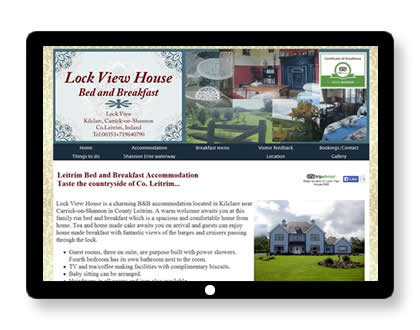 Website for B&B in Ireland