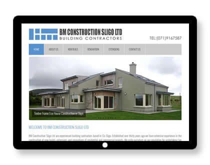 Website for Building company in Sligo