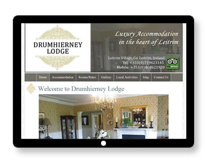 Website for B&B in Leitrim, Ireland