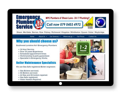 Website for Plumber in London
