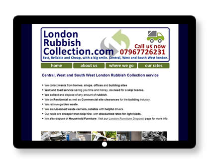 Website for Waste Collection Company in London