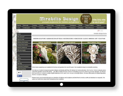 Ecommerce website for sculpture company in UK