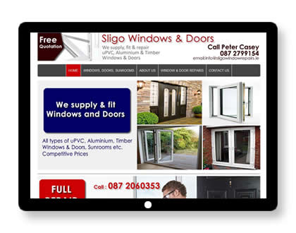 Website for Window Repairs and installations in Sligo, Ireland