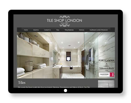 Website for Tile Shop in London